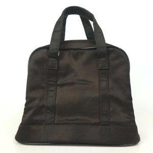 GUCCI Handbag Nylon/Patent Leather Brown Bag Italy